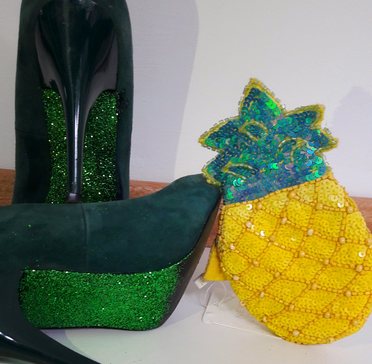 DIY Glittery Soled Shoes